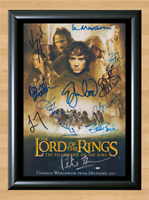 Lord of the Rings Fellowship of the Ring Cast Signed Autographed A4 Poster Print