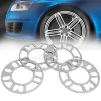 4pcs 3mm & 5mm Universal Set Kit Alloy Wheel Spacers Shims 4 And 5 Stud Bolt