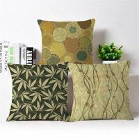 18'' Vigne Sofa Pillow Case Cotton Linen Fashion Throw Cushion Cover Home Decor