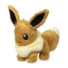 2018 New Pokemon Center Original Sitting Eevee Fluffy Plush - 8 In.