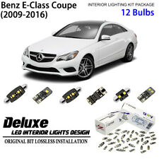 12 Bulbs Deluxe LED Interior Light Kit White for 2009-2016 Benz E-Class Coupe