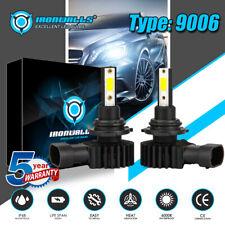 IRONWALLS 9006 HB4 COB LED Headlight Bulb 2200W Super Bright High/Low Beam 6000K