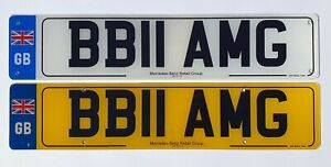 BB11 AMG Private cherished registration number on retention, assignment fee paid