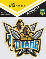NRL Gold Coast Titans Mini Decal Stickers - Pack of 2