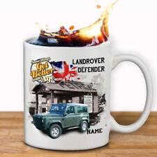 Personalised LAND ROVER DEFENDER Mug Cup Classic Car Gift Grandad Dad Him