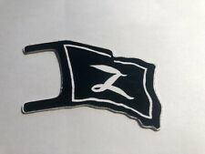 MARX Zorro PLAY SET DIE CUT ALUMINUM FLAG, Reissue.