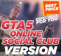 Grand Theft Auto V☑️Social Club account(Online/Offline) ☑️PC&MAC+100%WARRANTY