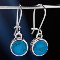Türkis Silber 925 Ohrringe Damen Schmuck Sterlingsilber H0563