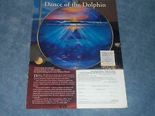 Franklin Mint Dance of the Dolphin Vintage Collector Plate Ad