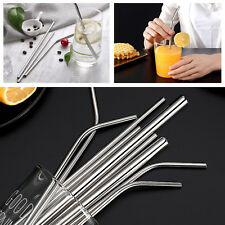 Stainless Steel Metal Straws & Cleaning Brush Reusable Drinking Straws 20oz/30oz