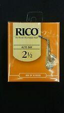 Rico Box of Ten Size 2.5 Alto Saxophone Reeds RJA1025