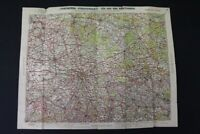 alte Karte Straßenkarte Rad Kraftfahrer Leipzig old vintage Sammler Karte