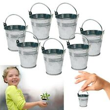 Dazzling Toys 24 Mini Metal Buckets Tin Party Pail Containers Wedding ... NO TAX