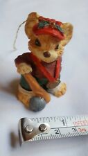 Mouse with Baseball Bat Figurine Christmas Xmas tree holiday Ornament Pre-owned