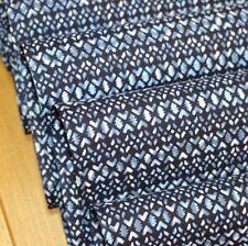 """Vintage Japanese Indigo Cotton Dyed Folk Yukata Fabric 60"""" FREE SHIPPING"""