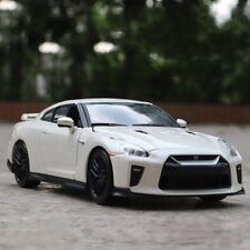 Nissan GT-R 2017 Model Cars Toys 1:24 Collection & Gifts Alloy Diecast White New