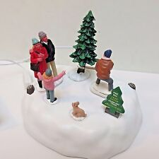 Lemax 2016 Holiday Village Animated Table Accent, PINE HILL TREE FARM, New Box