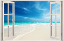 Huge Window Wall Sticker Tropical Island Beach Door Vinyl Decor 3d Mural Art Hom