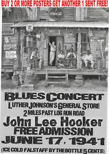 POSTER BLUES HOOKER MUDDY CROSSROADS VINTAGE CONCERT FESTIVAL MUSIC GUITAR KING