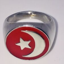 Nation Of islam Crescent Muslim Ring #10 SILVER COLOR