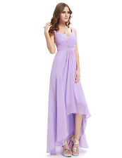 Ever-Pretty High Low Evening Party Long Dress 09983 Size 4 Lavender 18