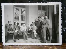 Photo argentique guerre 39 45 soldat Allemand wehrmacht WWII 2 Musicien au repos