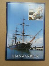 Vintage 1980s HMS Warrior Real Photo Postcard