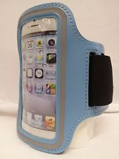 LIGHT BLUE Armband Case Jogging Running Apple iPhone 5 5S Holder Cover w Strap