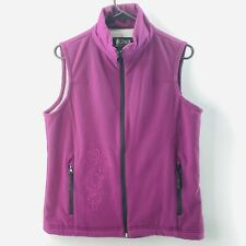 Outback Trading Company Equestrian Vest Jacket Size Medium Purple Embroidered