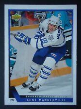 NHL 420 Kent Manderville Toronto Maple Leafs Upper Deck 1993/94