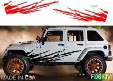 vinyl graphics MUD splash Off-Road side decal cars trucks suv trailer 4x4 4wd  6