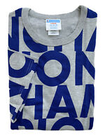 CHAMPION LIFE Mens Heritage Tee All Over Big Block Logo Grey Blue NWT LARGE