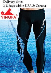 new Yingfa long swimming pants legskin swim trousers swim jammers for men & boys