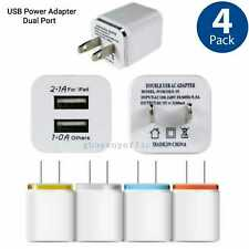 4X 2Port  Dual USB Universal Wall Charger Adapter Plug For Original iPhone Ipad