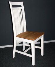 Holzstuhl Kiefer 2farbig weiß gelaugt Stühle Vollholz massiv Stuhl aus Holz