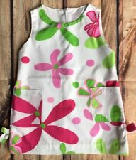 Girls dress size 2T 24 Months Baby Boutique Shift Floral 100% Cotton Pink Green