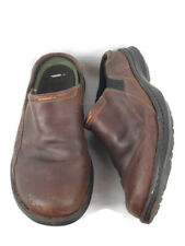 Timberland Men's Brown Leather Slides Size 11.5