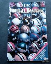1989 Lite Beer Football Handbook Booklet NFL & College Schedules Previews