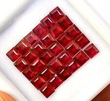 4.13 Cts Natural Ruby Square Cut 4 mm Lot 10 Pcs Deep Red  Loose Gemstones GF