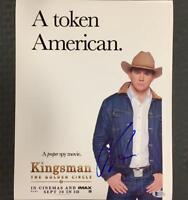 CHANNING TATUM Signed KINGSMAN 11x14 Movie Poster Photo w/ BAS Beckett COA Auto