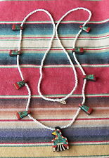 Vintage Depression Era Santo Domingo Yellow Beak Thunderbird Squash Necklace