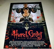 "HANSEL & GRETEL : WITCH HUNTERS PP SIGNED 12""X8"" POSTER JEREMY RENNER"