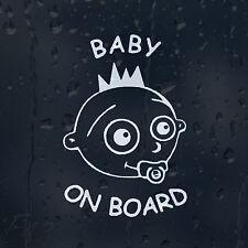 BABY On Board Bambino Divertente Con Spurgo Decalcomania Adesivo Vinile