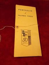 RARE OLD VTG ADVERTSING PIECE -- WESTERN AUTO PORTFOLIO OF VALUABLE PAPERS, NICE
