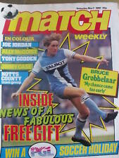 Match weekly magazine soccer 07/11/1981 Poster Notts County - Joe Jordan MILAN