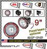 2pcs 9inch HID Xenon Fog Work Light 100W 12V Spot For Offroad ATV Driving Lamp