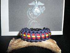 United States Marine Corps (USMC) Navy Blue with stripes Paracord Bracelet