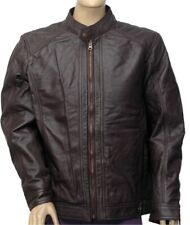 New Men's 100% Real Leather Motorbike/Motorcycle/Brown color JACKET Size-3XL -7