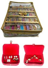 NEW COMBO 5 ROLL BANGLE STORAGE CASE RING EARRINGS ORGANIZER TRAVEL JEWELRY BOX