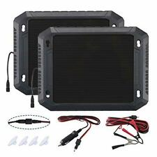 Paladin 2pk 12v Solar Car Battery Charger 24w Battery Trickle Charger Mainta
